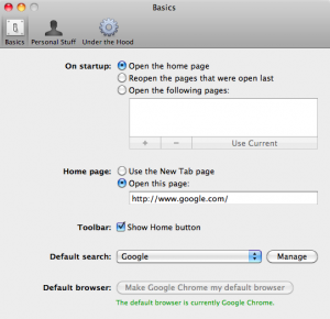 Step 2: Manage Search Engine (OS X)