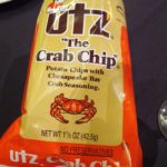 Crab-seasoned potato chips.  Not bad if eating a few, but the spice got to me a little and I didn't finish the bag.
